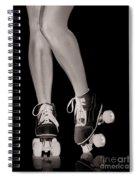 Girl Legs In Roller Skates Artistic Concept Spiral Notebook