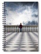 Girl On A Terrace Spiral Notebook