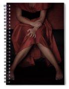 Girl On Black Sofa Spiral Notebook