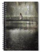 Girl On Bridge Spiral Notebook