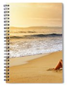 Girl On Seashore  Spiral Notebook
