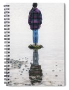 Girl On Stone Spiral Notebook