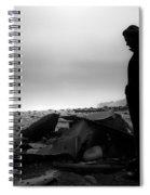 Girl On The Beach Spiral Notebook