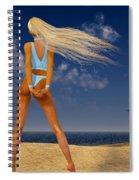 Girl On The Beach... Spiral Notebook