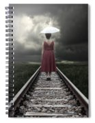 Girl On Tracks Spiral Notebook