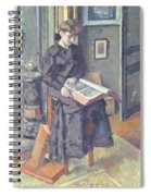 Girl Reading A Book Spiral Notebook