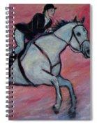 Girl Riding Her Horse I Spiral Notebook
