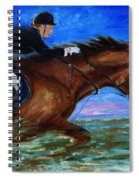 Girl Riding Her Horse II Spiral Notebook