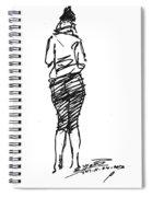 Girl Sketch Spiral Notebook
