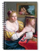 Girl With A Mirror, An Allegory Spiral Notebook