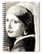 Girl With A Pearl Earring By Jan Vermeer Van Delft Spiral Notebook