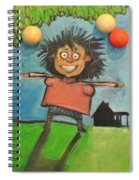 Girl With Balloons And Dog Spiral Notebook