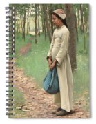 Girl With Bindle Spiral Notebook