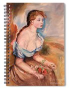 Girl With Dasies Spiral Notebook