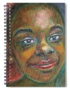 Girl With Diamond Earrings Spiral Notebook