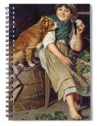Girl With Dog Spiral Notebook