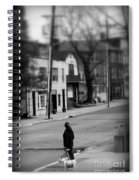 Girl With Dog - Somewhere In America Spiral Notebook