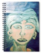 Girl With Ear Rings Spiral Notebook
