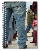 Girl With Family At Taj Mahal Spiral Notebook