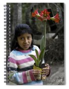Girl With Flower Spiral Notebook