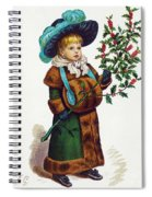 Girl With Holly Spiral Notebook