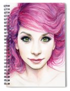 Girl With Magenta Hair Spiral Notebook