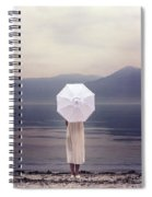 Girl With Parasol Spiral Notebook