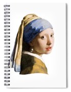 Girl With Pearl Earring Flip Side Spiral Notebook