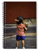 Girl With Toy Dog Spiral Notebook