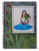 Girl With Tulips Spiral Notebook