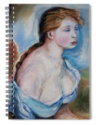 Girl With With Daisies Renoir Spiral Notebook