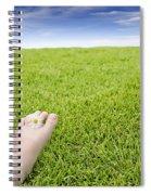 Girls Feet On Grass With Flowers Spiral Notebook