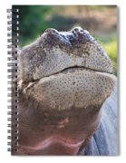 Give Me A Kiss Hippo Spiral Notebook