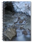 Glacial Creek Flowing From Blue Ice Spiral Notebook