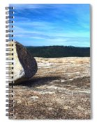 Glacial Erratic On Bald Rock Dome Spiral Notebook