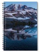 Glacial Rainier Morning Reflection Spiral Notebook