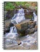 Glacier Falls Glacier National Park Spiral Notebook