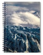 Glacier In The Clouds Spiral Notebook