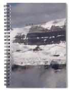 Victoria Glacier Mist - Lake Louise, Alberta Spiral Notebook