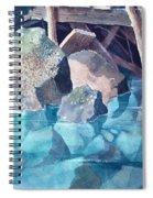 Glacier Stream Rocks Spiral Notebook