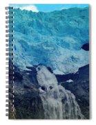 Glacier Waterfall Spiral Notebook
