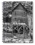 Glade Creek Grist Mill Bw Spiral Notebook