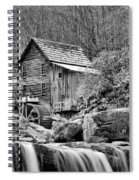 Glade Creek In Black And White Spiral Notebook