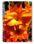Gladiola Up Close Impression Spiral Notebook