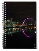 Glasgow Clyde Arc Bridge At Night Spiral Notebook