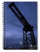 Glasgow Dock Crane 02 Spiral Notebook