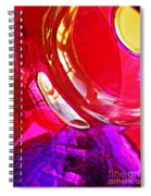 Glass Abstract 607 Spiral Notebook