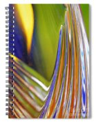 Glass Abstract 743 Spiral Notebook