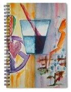 Glass Attitude Spiral Notebook