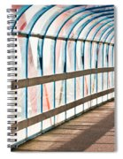 Glass Covered Walkway Spiral Notebook